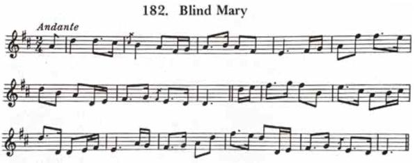 "Carolans komposition ""Blind Mary""i originalversion"