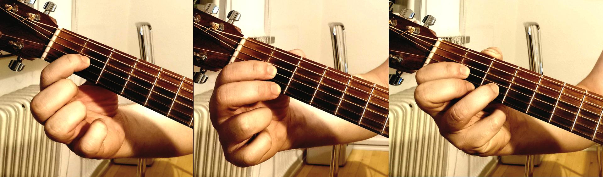 D akkorden finger efter finger
