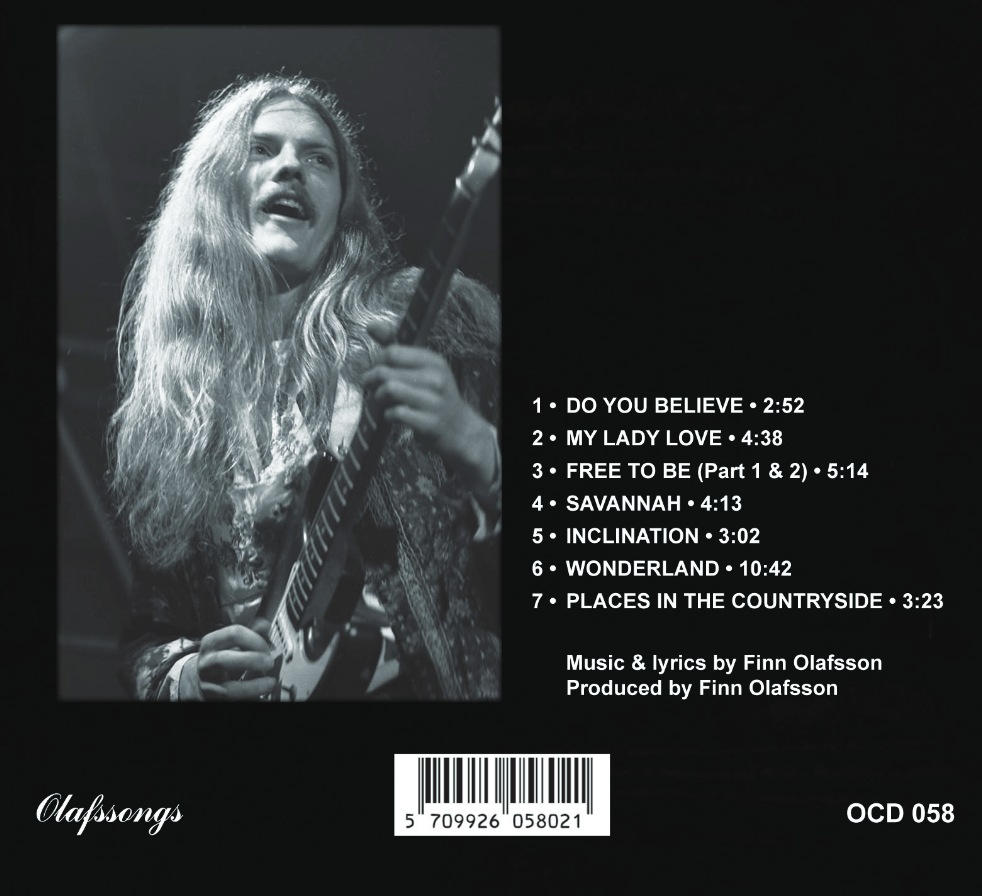 "FINN OLAFSSON: ""Savannah"" - legendary music album now rereleased on CD  Finn Olafssons første solo album ""Savannah"" genudgivet i en re-mastret CD version - i eksklusiv 3-fløjet digipack cover med sangteksterne inkluderet i en lækkert illustreret booklet :"