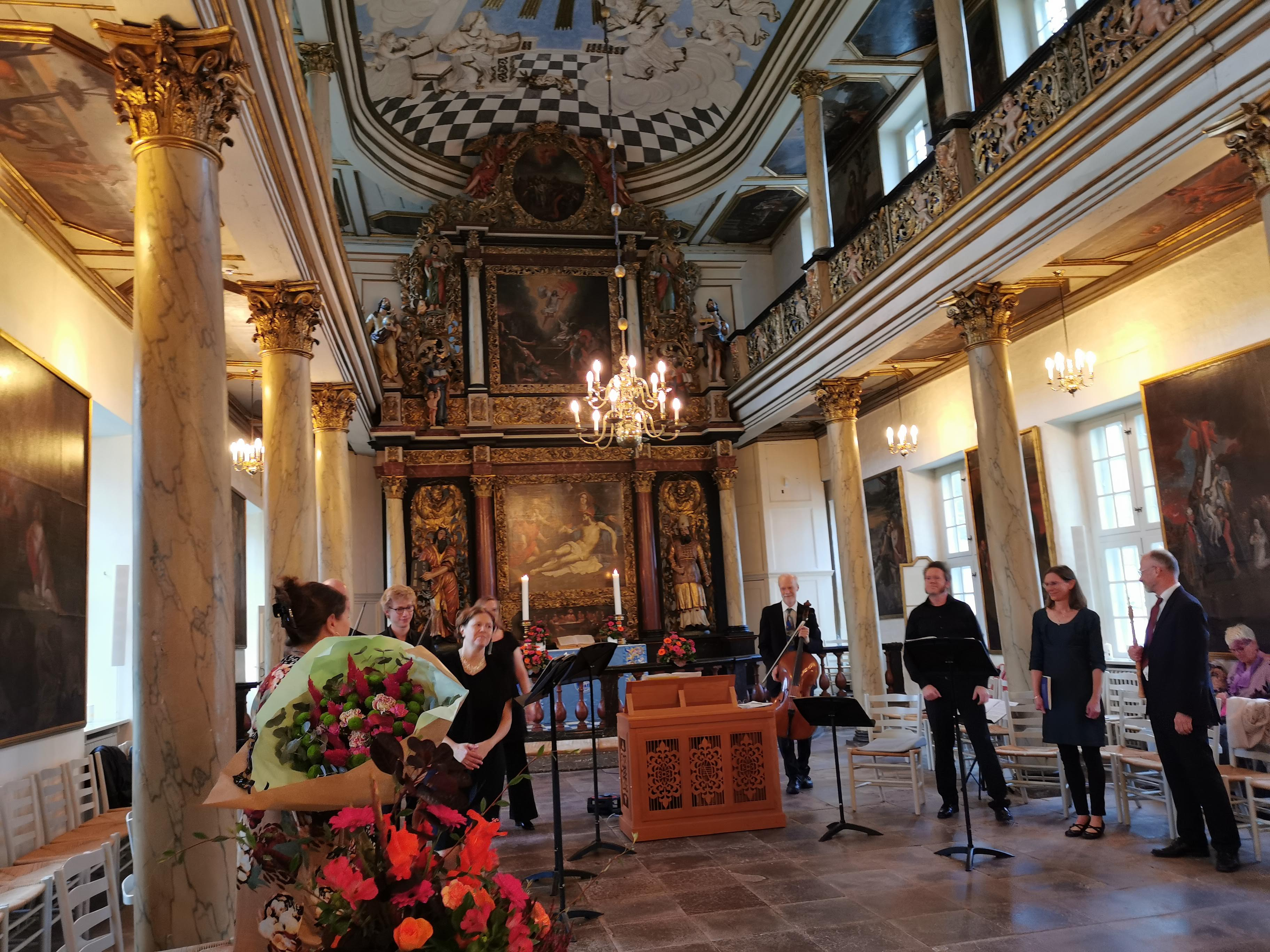 Lars Hedelius Strikkertsen spillede b.la. musik af: Bach, Telemann, Vivaldi og Händel. Koncertindvielse af Slotskirkens nye kororgel bygget af Henk og Niels Klop med værkstedet i Gardener.