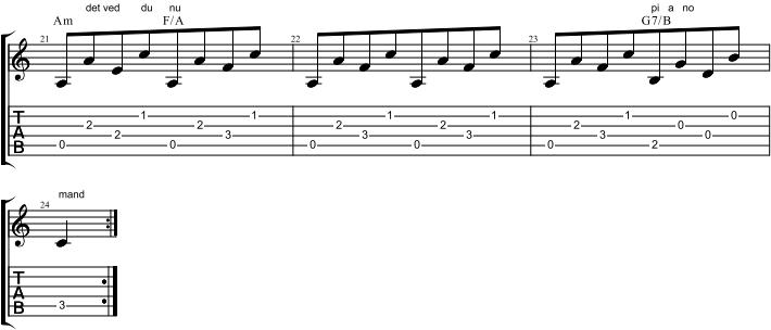 Pianomand uddrag mg G7/B akkord