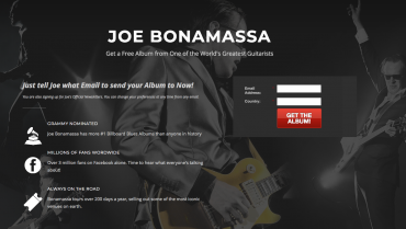 Joe Bonamassa tillader folk at downloade sit album gratis