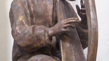 O carolan med sin Egan harpe