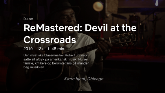 Robert Johnson dokumentaren devil at the crossroads