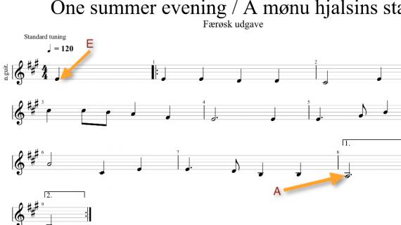 Den færøske udgave af One summer evening