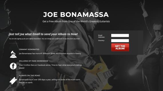 Joe Bonamassa udgiver gratis album